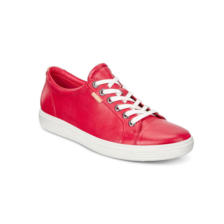 ecco-chaussure-marche-femme-soft-rouge