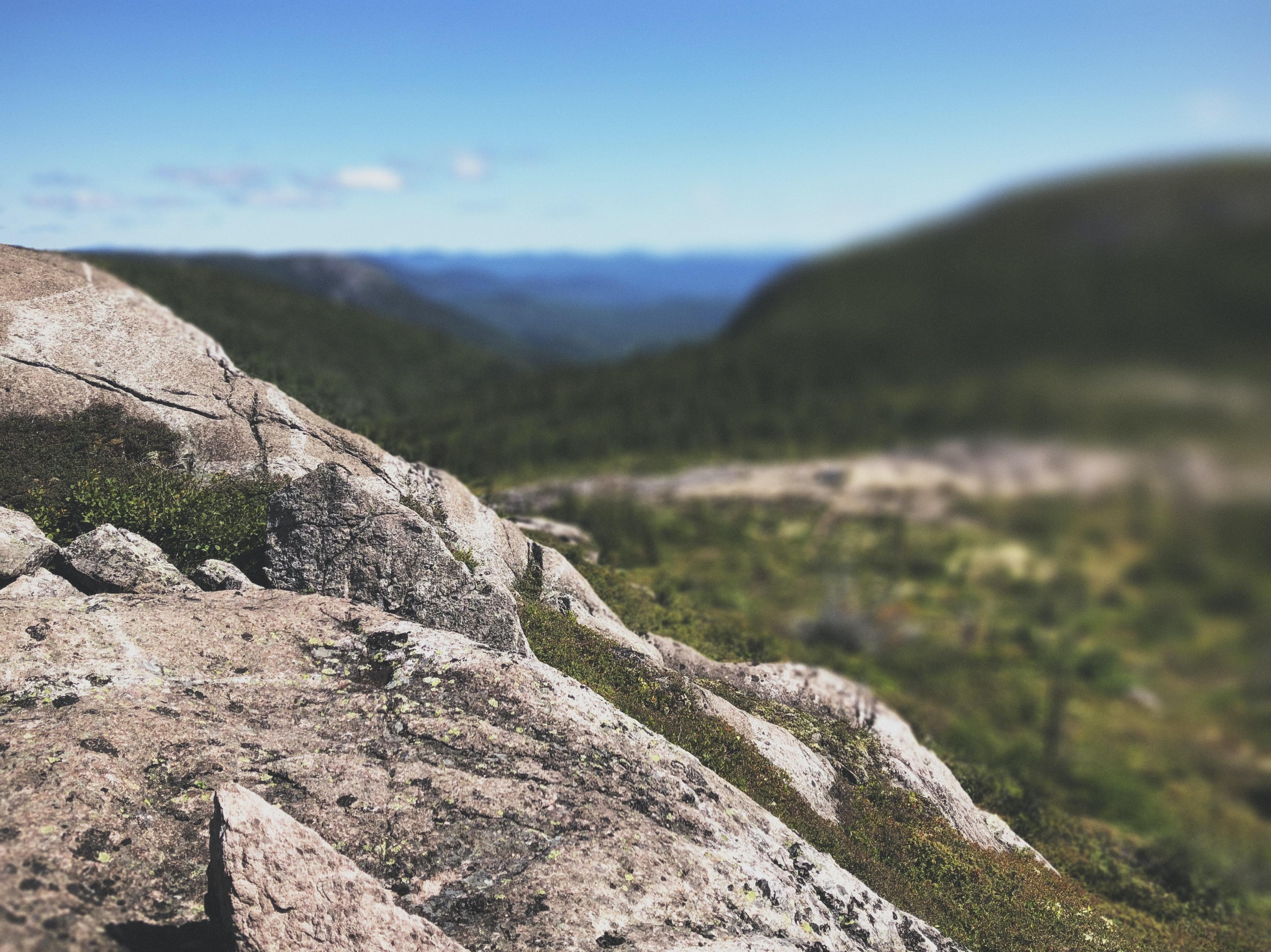 Paysage montagne et rocher